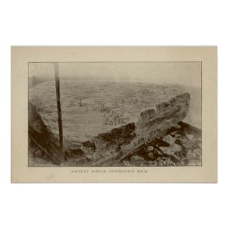 Inscription Rock - Kelleys Island, Ohio Poster