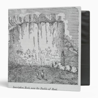 Inscription Rock, near the Pueblo of Zuni Vinyl Binder