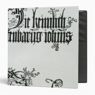 Inscriptions in Gothic script Vinyl Binders