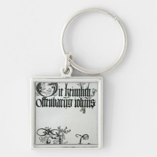 Inscriptions in Gothic script Keychain