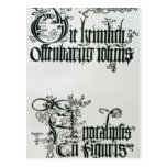 Inscriptions in Gothic script Post Cards