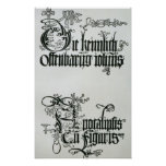 Inscriptions in Gothic script Posters