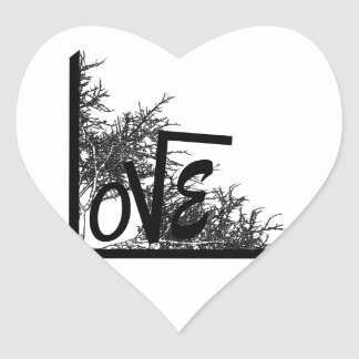 Inscriptions Heart Sticker