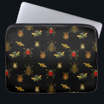 "Insect Argyle Laptop Sleeve<br><div class=""desc"">A pattern created with 17th century illustrations from The Natural History of Beetles by John Ray</div>"