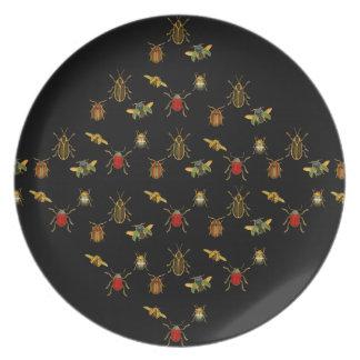 Insect Argyle Melamine Plate