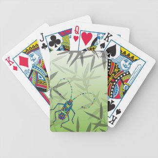 Insect Bamboo leaves Green Unique Pattern Bicycle Playing Cards