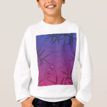 Insect Bamboo leaves Pink and Blue Unique Pattern Sweatshirt