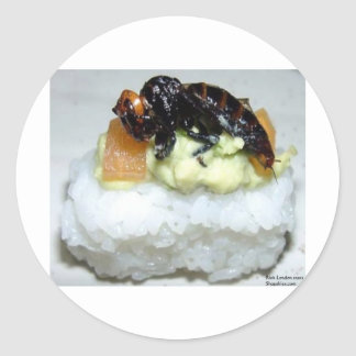 Insect Bee Sushi Gifts Tees Collectibles Round Stickers