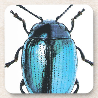 insect blue ladybird fluo fashion drink coaster