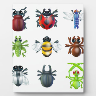 Insect bug icons plaques