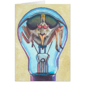 """""""Insect Bulb"""" Surreal Art Notecard by Ashazart"""