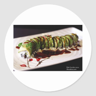 Insect Catipillar Sushi Gifts Tees Collectible Round Sticker
