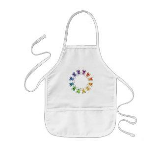 """Insect Color Wheel"" Sagra femorata Bug Watercolor Kids' Apron"