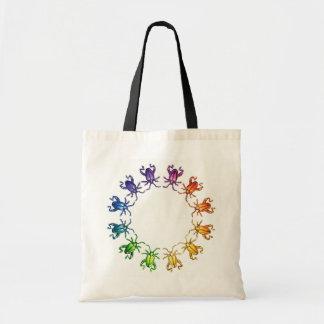 """Insect Color Wheel"" Sagra femorata Bug Watercolor Tote Bag"