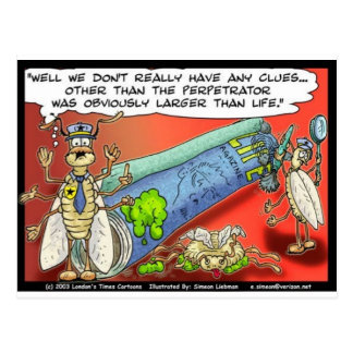Insect Crimes Funny Gifts Tees & Collectibles Postcard