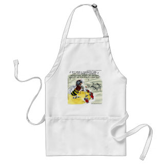 Insect Nightclub Singers Funny Adult Apron