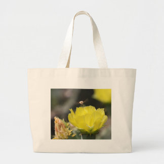 Insect on South Texas Cactus Flower Photograph Tote Bag