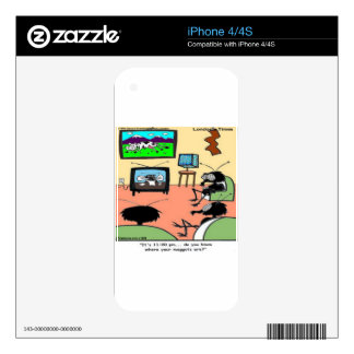 Insect Parents Funny Cartoon iPhone 4 Skins