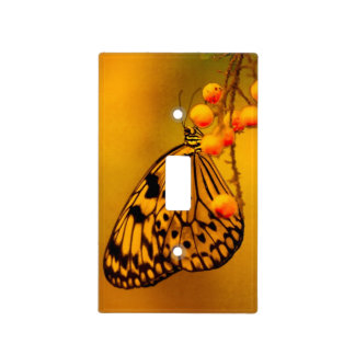 Insect Rice Paper Butterfly Light Switch Plate