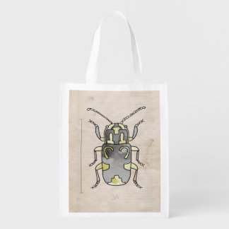 Insect Series | Green Beetle Grocery Bags
