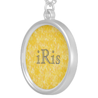 Insect Yellow Butterflies Silver Plated Necklace