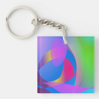 Insectivorous Plant Double-Sided Square Acrylic Keychain