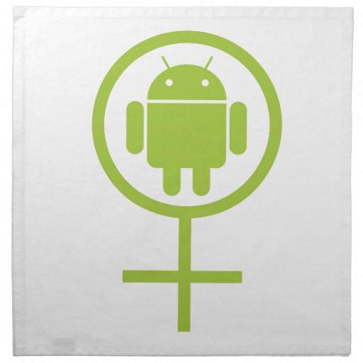 Insecto androide femenino Droid (del analista de p Servilletas De Papel