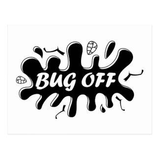 Insecto apagado postales