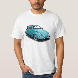Insecto clásico azul brillante en la camiseta playeras