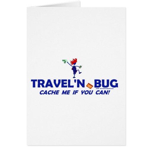 Insecto de Geocache Travel'n Felicitación