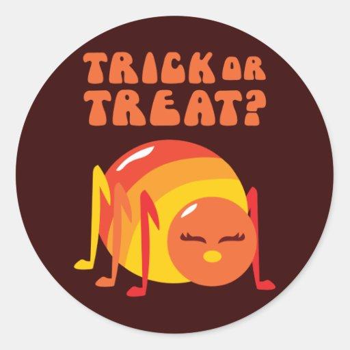 Insecto de Halloween Etiquetas Redondas