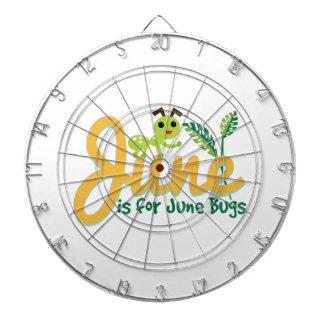 Insecto de junio tablero dardos