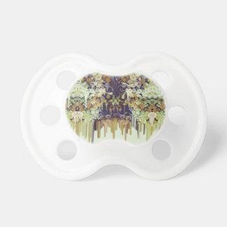 Insecto de junio, estampado de flores de fusión chupetes