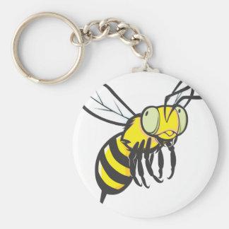 Insecto de la abeja del vuelo llavero redondo tipo pin