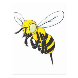 Insecto de la abeja del vuelo tarjeta postal