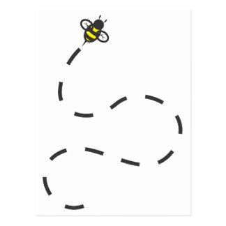 Insecto de la abeja del vuelo tarjetas postales