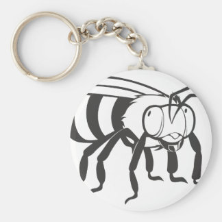 Insecto de la abeja llavero redondo tipo pin