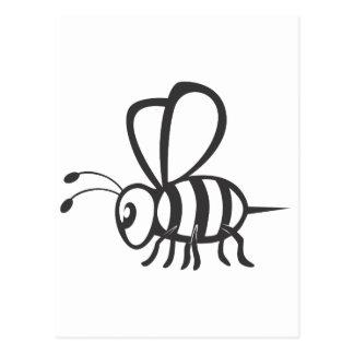 Insecto de la abeja tarjetas postales