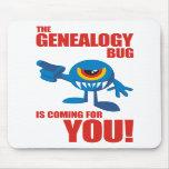 Insecto de la genealogía que viene para USTED Tapetes De Ratones