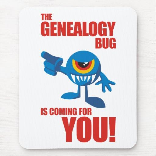 Insecto de la genealogía que viene para USTED Alfombrillas De Raton
