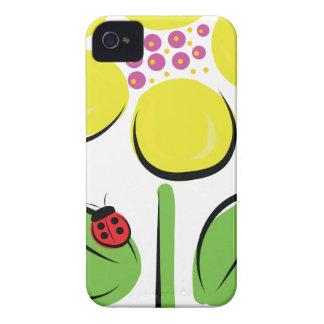 Insecto de la margarita Case-Mate iPhone 4 carcasas