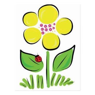 Insecto de la margarita tarjetas postales