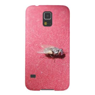 Insecto de la mosca de soplo en rojo carcasa para galaxy s5