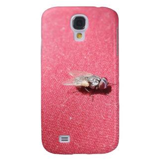 Insecto de la mosca de soplo en rojo funda para galaxy s4