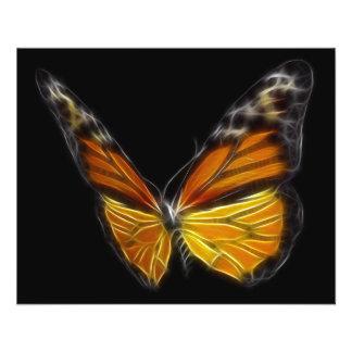"""Insecto de vuelo anaranjado de la mariposa del mon folleto 4.5"""" x 5.6"""""""