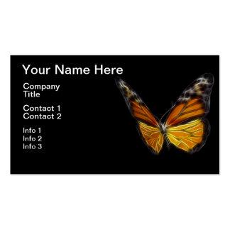 Insecto de vuelo anaranjado de la mariposa del mon tarjeta de visita