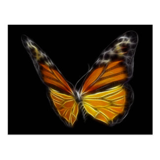 Insecto de vuelo anaranjado de la mariposa del postales