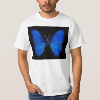 Insecto de vuelo azul de la mariposa playera