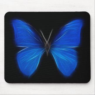 Insecto de vuelo azul de la mariposa tapetes de raton