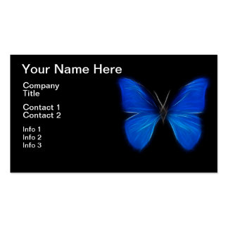 Insecto de vuelo azul de la mariposa plantilla de tarjeta personal
